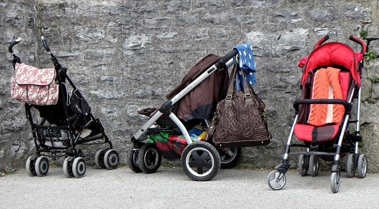 wanneer baby in wandelwagen