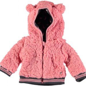 Bampidano hooded teddy pink winterjas