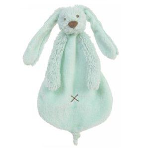 knuffeldoekje konijn blauw