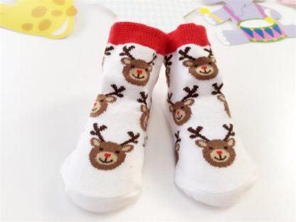baby kerstsokken rendier