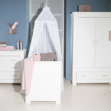 3-delige babykamer wit kopen