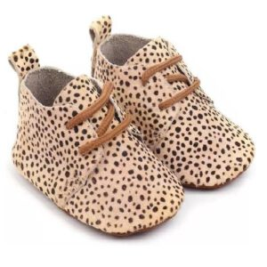 Luipaardprint babyschoenen