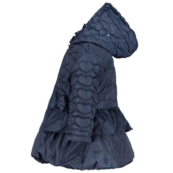 donkerblauwe winterjas baby meisje